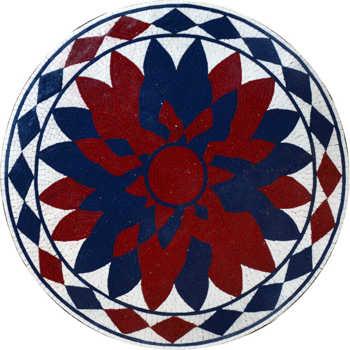 Mosaic Medallion - Floral Ink
