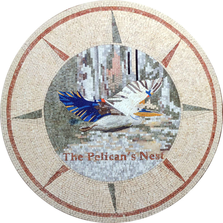 The Pelican's Nest - Mosaic Medallion