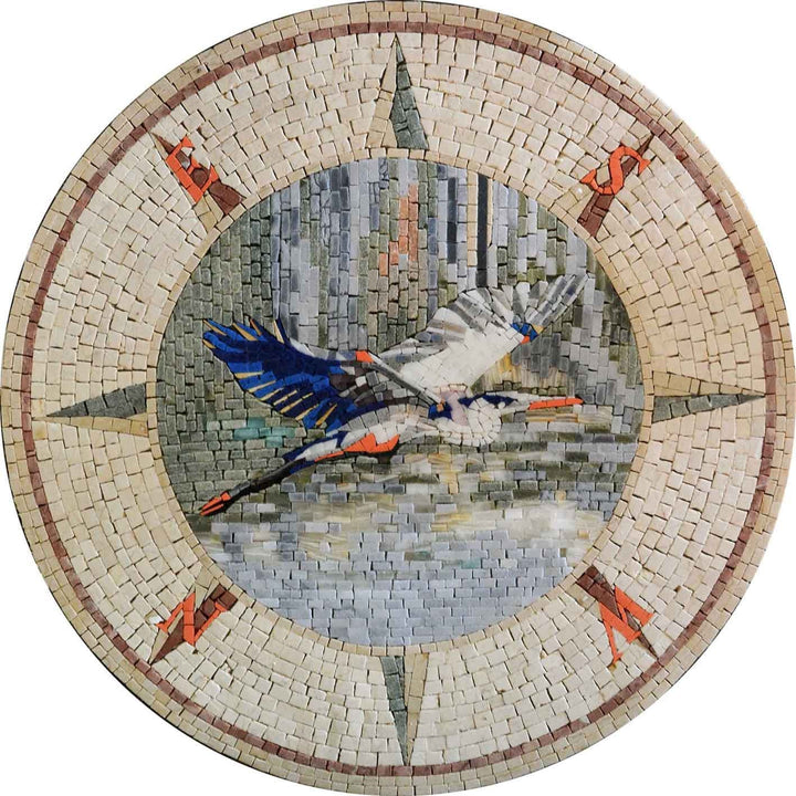 Mosaic Designs - Heron Bird