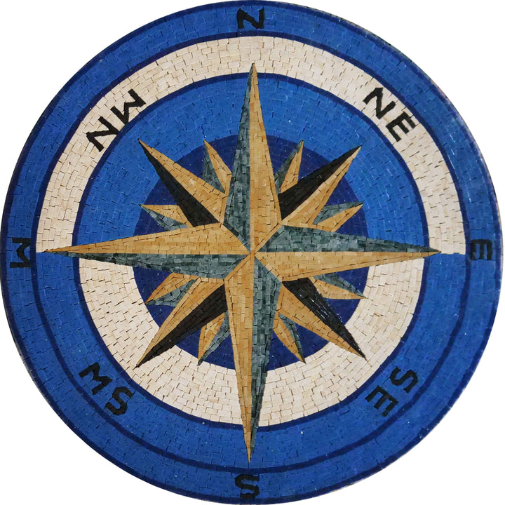 Mosaic Medallion - Compass Rose II
