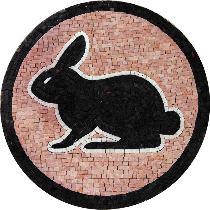 Mosaic Medallion - Rabbit Artwork