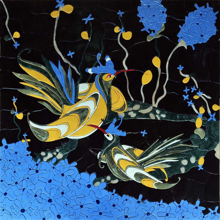 Mosaic Design - Birds in petal