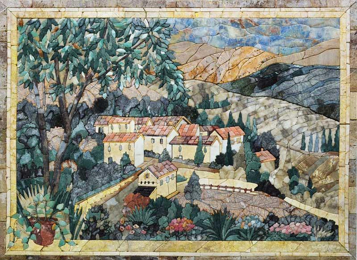 Pietra Dura Marvelous Natural View Mosaic