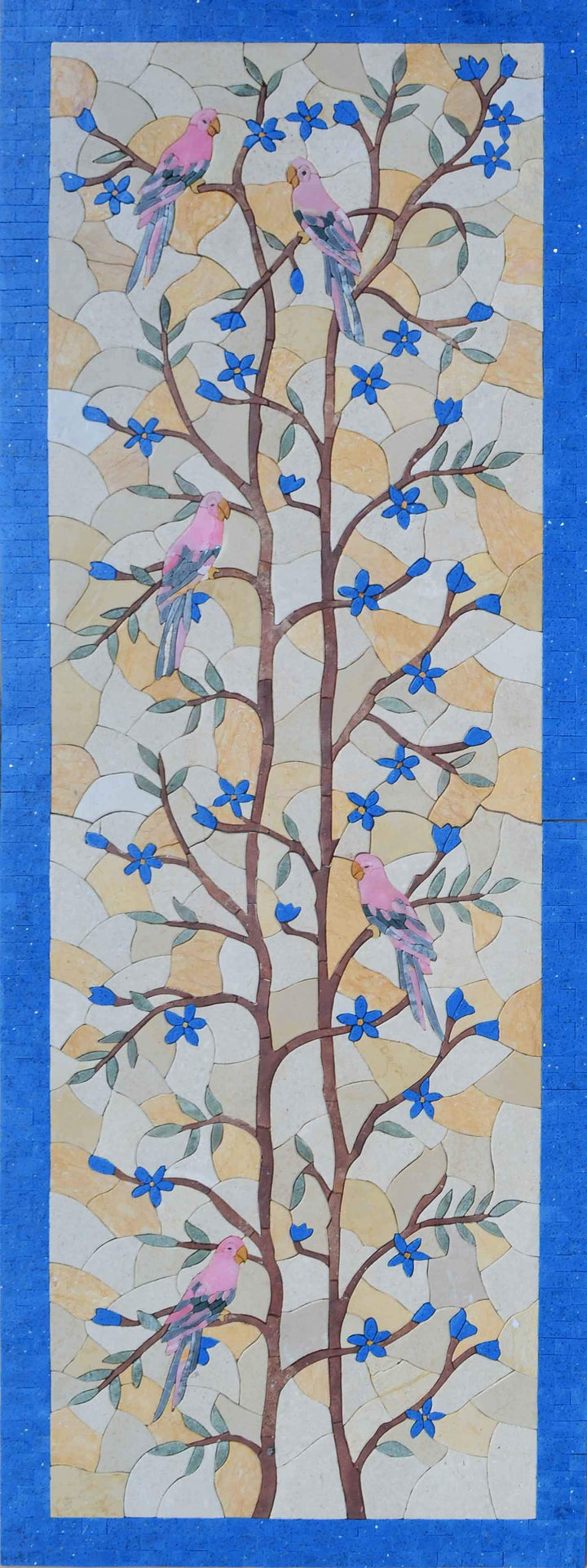 Mosaic Mural - Birds On Tree Branch