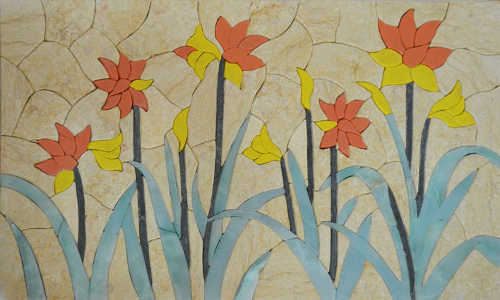 Mosaic Tile Art - Autumn Garden II