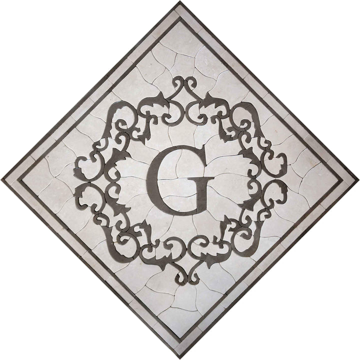 "Mosaic Square Accent -""G"" Letter"