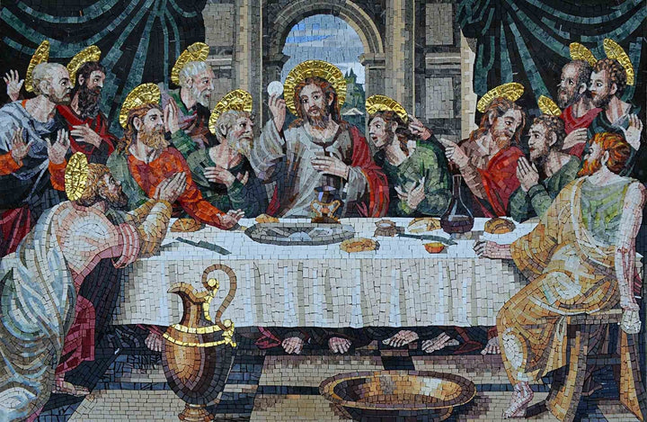 Christian Mosaic Art - The Last Supper