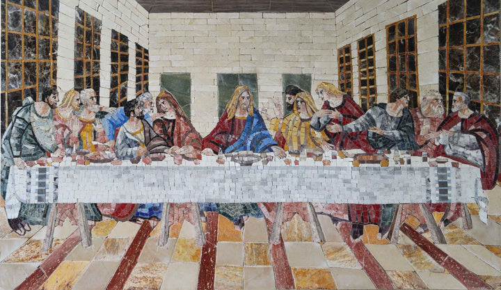 Religious Mosaics - The Last Supper Reproduction