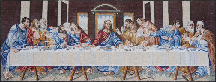 Mosaic Reproduction - Da Vinci's The Last Supper
