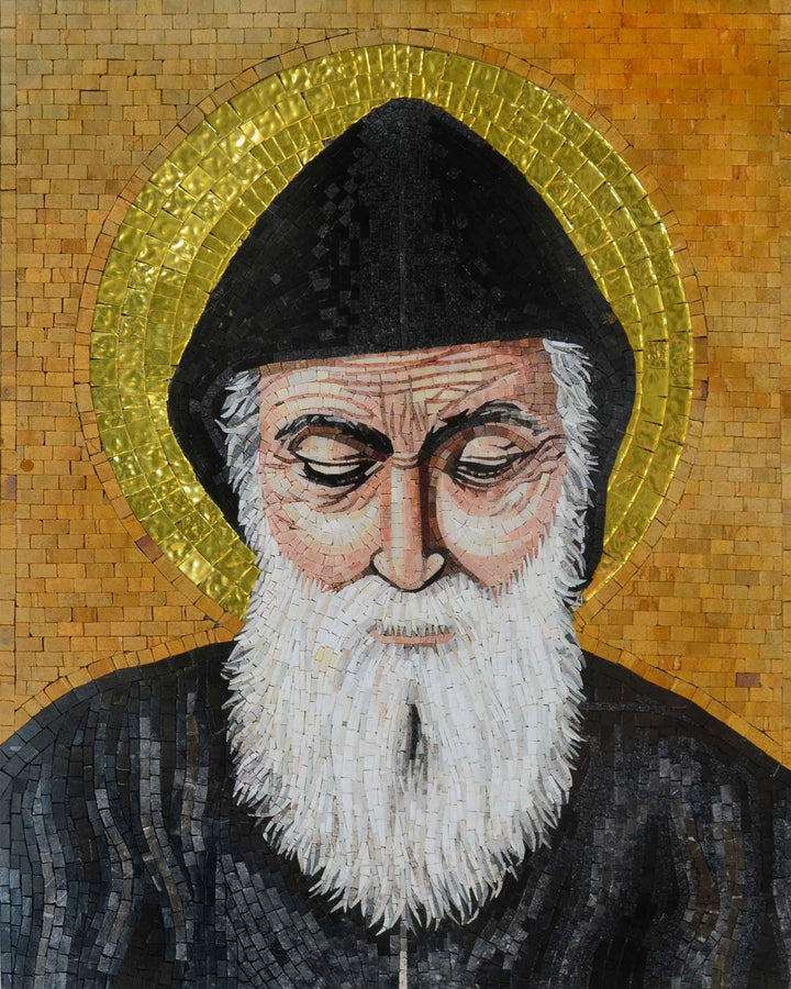 Saint Charbel Mosaic Icon