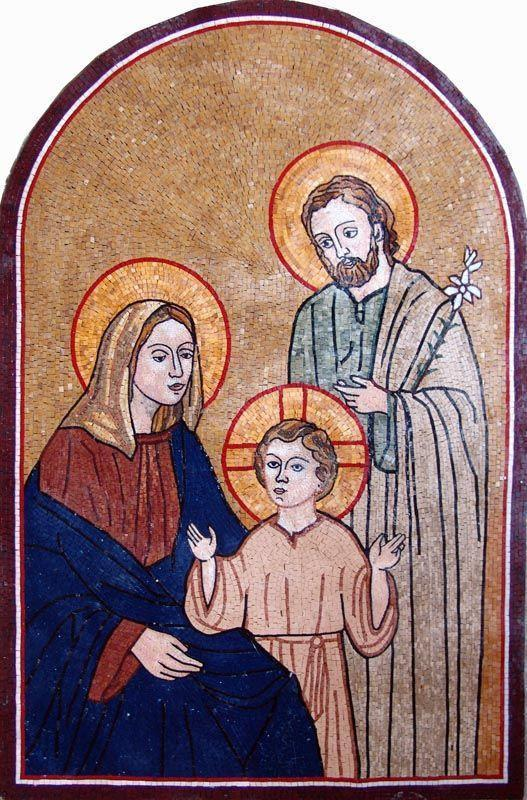 The Holy Family Stone Mosaic