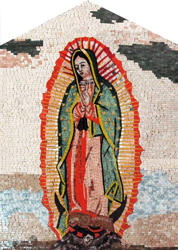 Our Lady of Guadaloupe Marble Mosaic Art
