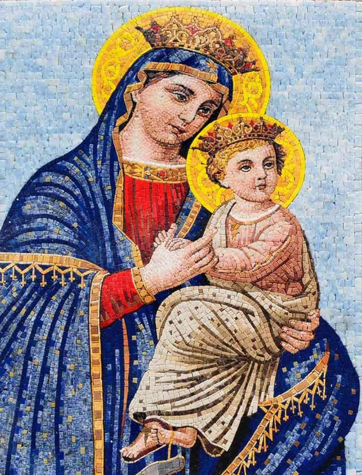 Light of Jesus and Mary Iconic Mosaic