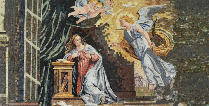 Annunciation of Virgin Mary Christian Icon Mosaic