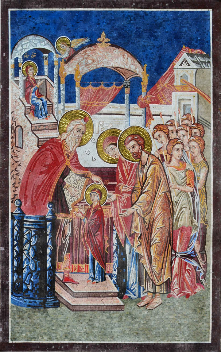 Presentation of Jesus Christ Religious Mosaic