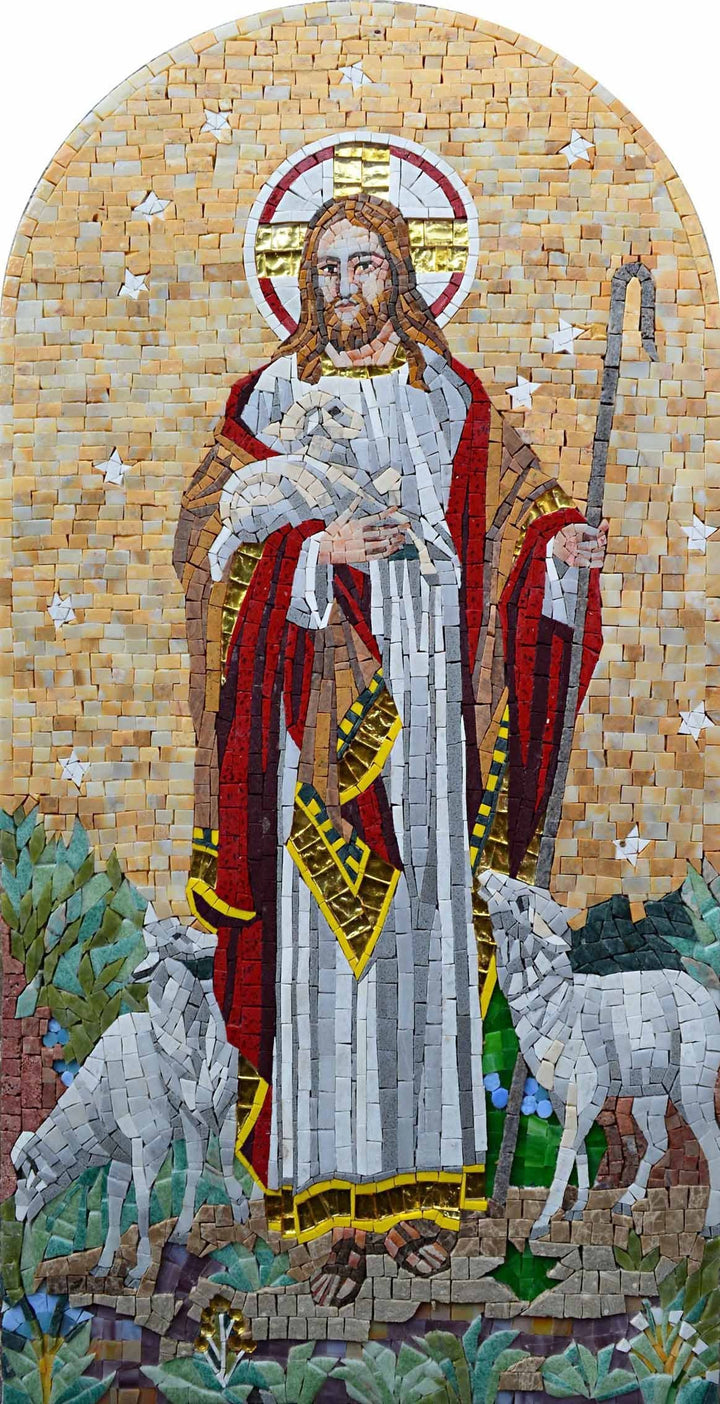 Jesus The Shepherd- Custom Mosaics