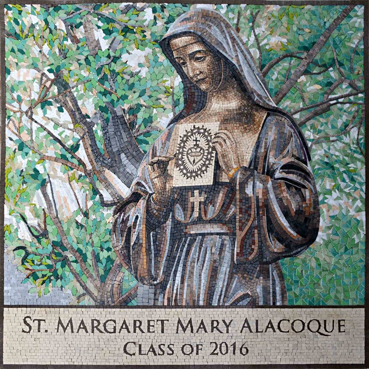 Mosaic Icon - St. Margaret Mary Alacoque