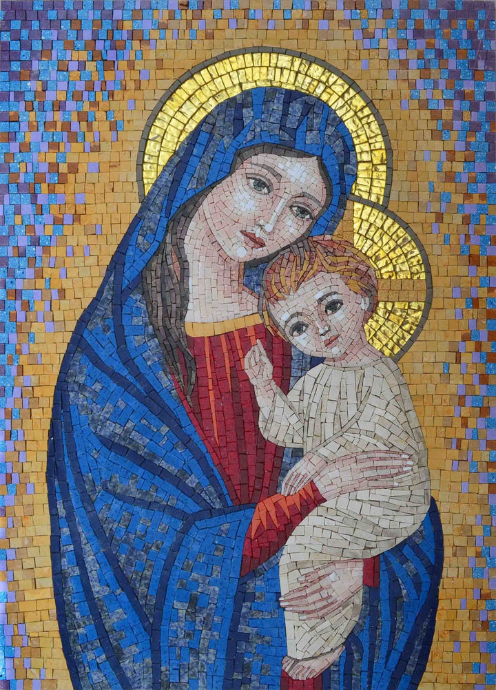 Mosaic Icon - Portrait Of Virgin Mary