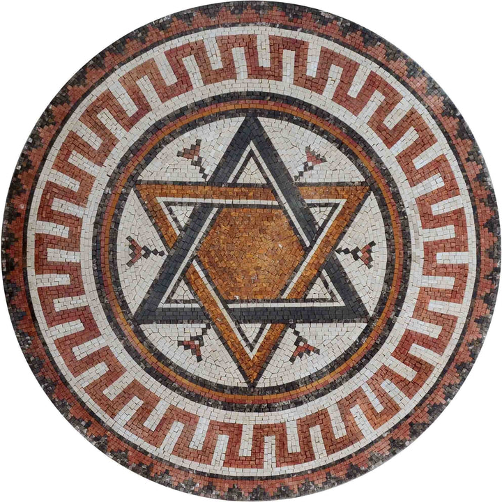 Mosaic Medallion - Star of David