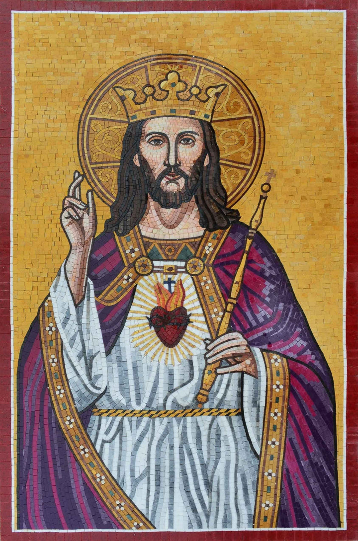 Mosaic Icon - Depiction of Jesus