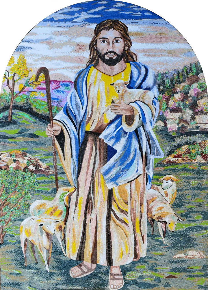 Mosaic Art - Jesus the great shepherd