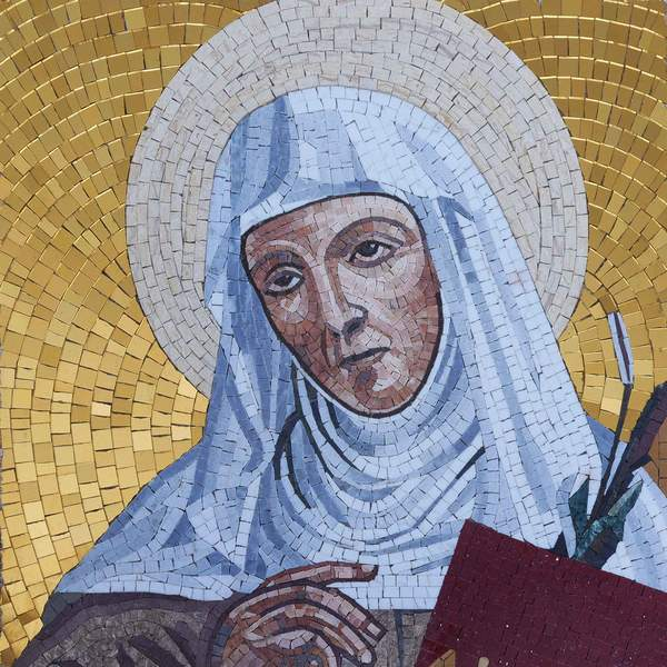 Saint Angela - Mosaic Art Portrait