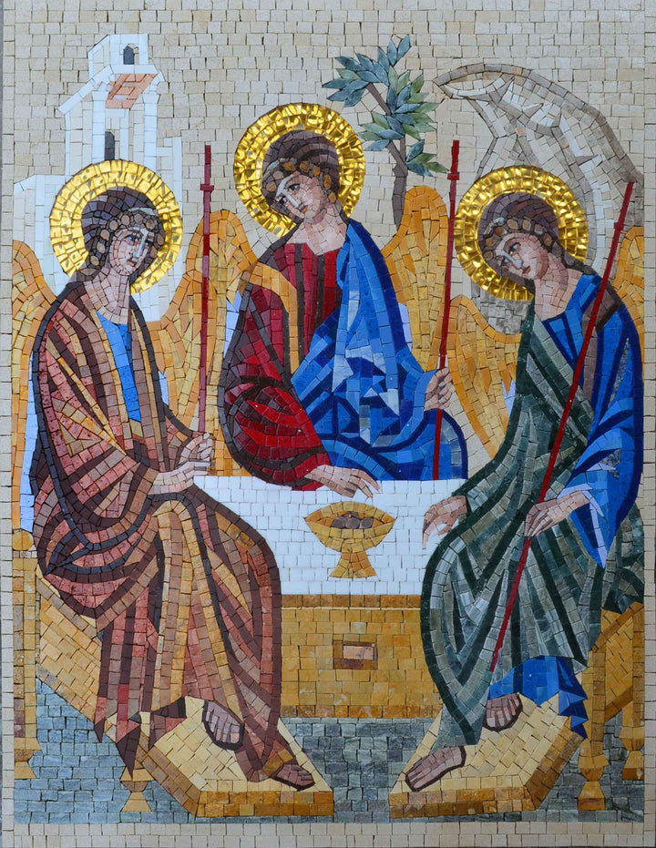 The Trinity Icon - Mosaic Reproduction