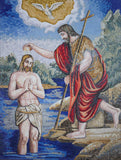 Religious Mosaic Reproduction - Jesus' Baptism
