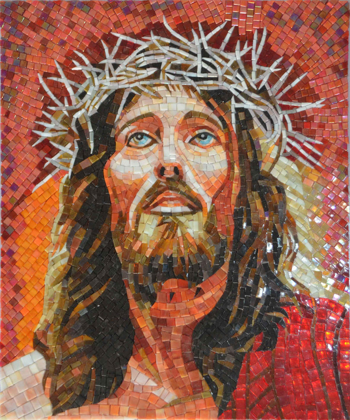 Glass Mosaic Icon - Jesus