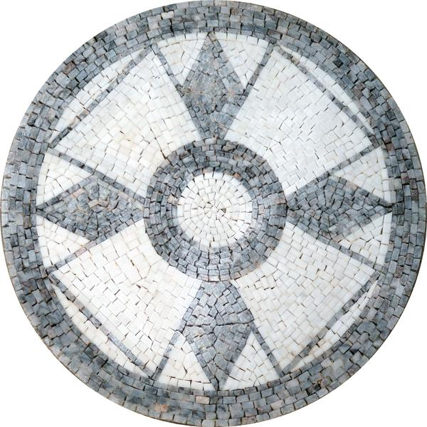 Mosaic Medallion - Christian Cross