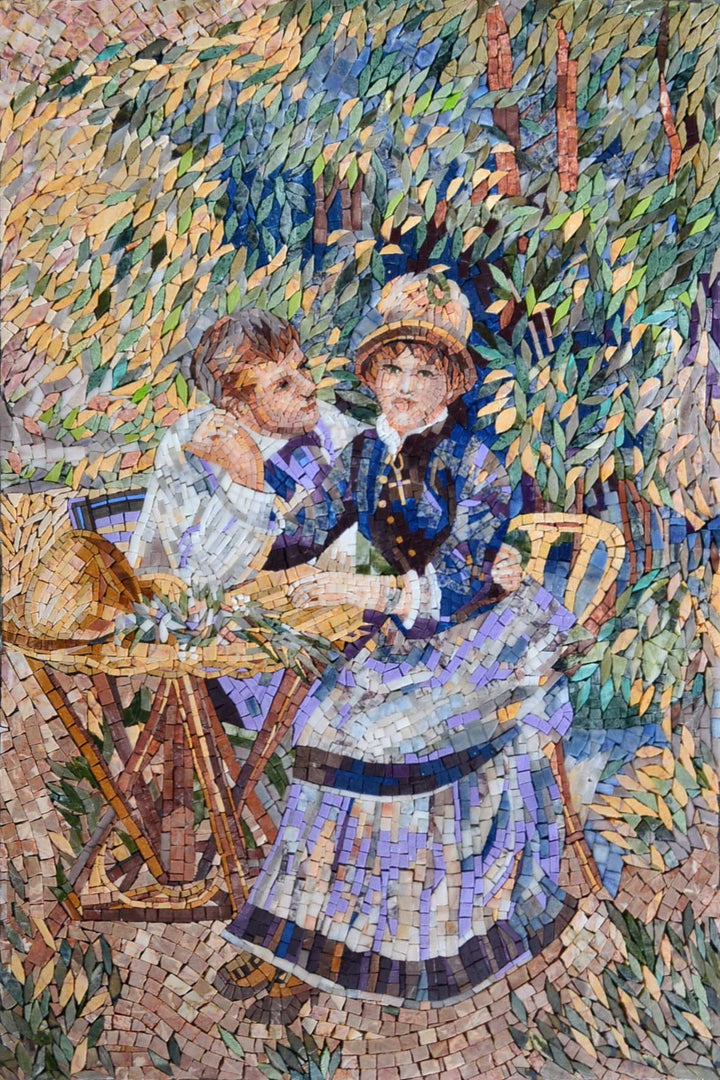 "Pierre-Auguste Renoir Lovers"" - Mosaic Reproduction """