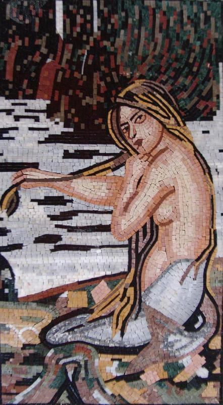 "John William Waterhouse The Mermaid"" - Mosaic Reproduction """