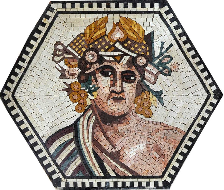 Ancient Greek Portrait Reproduced with Mosaics