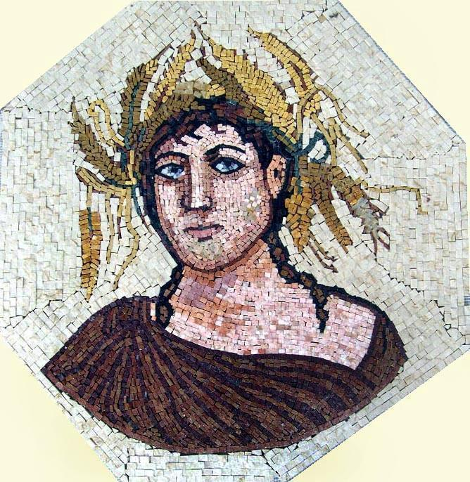 Roman Goddess of Youth Mosaic