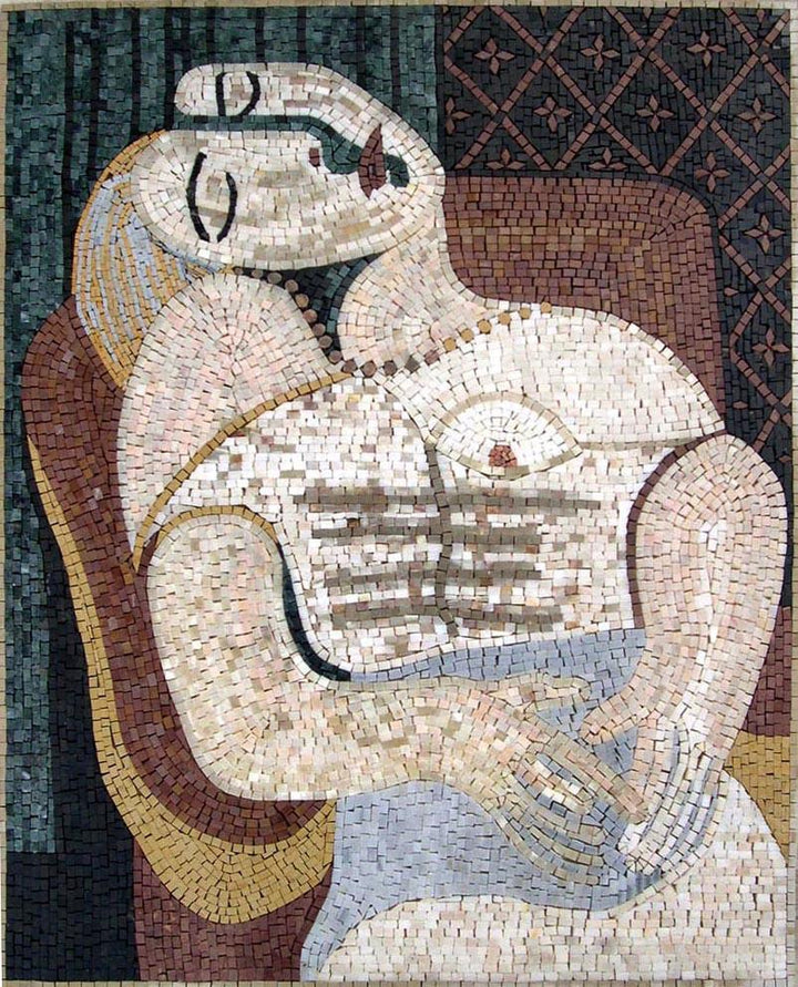 "Pablo Picasso Le R Ve"" - Mosaic Reproduction """