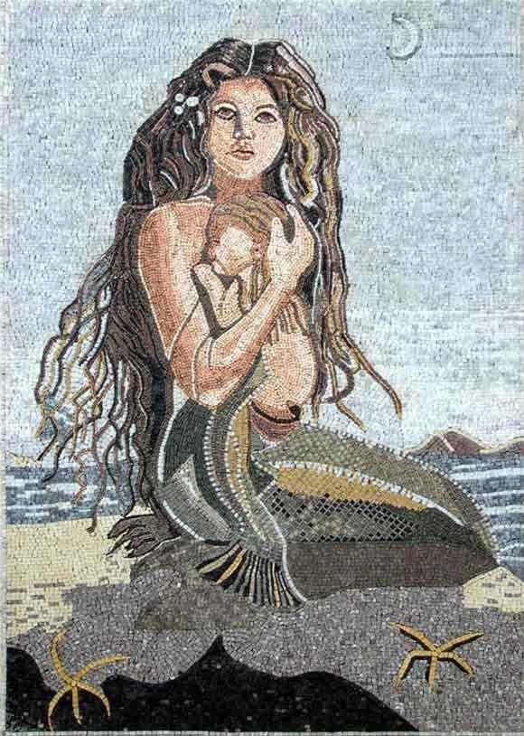 Mermaid Mosaic Pool Tile - Sharon