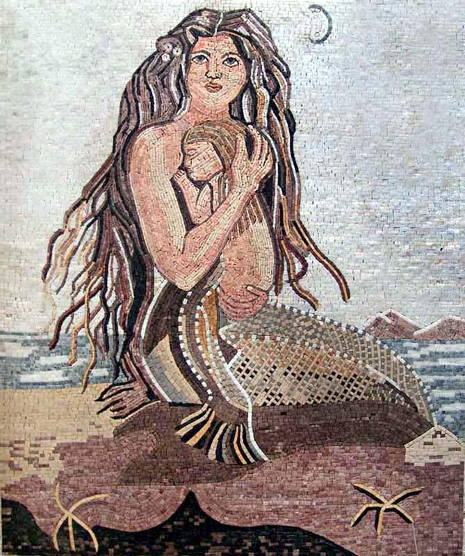Mermaid Mother Mosaic-Sharon