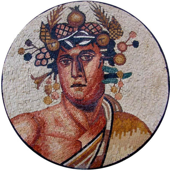 Mosaic Greek God Mosaic
