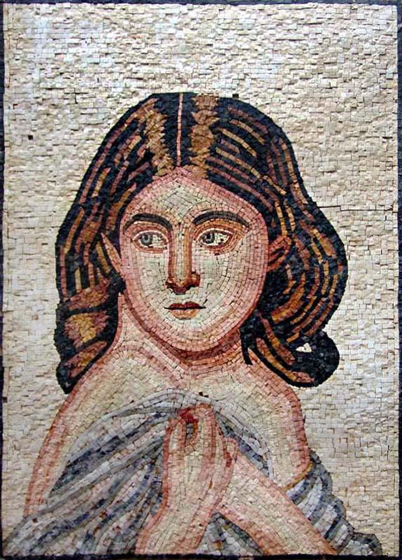 Ancient Woman Portrait Mosaic