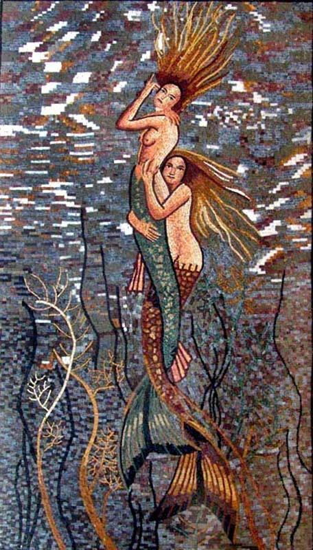 Mermaids mosaic