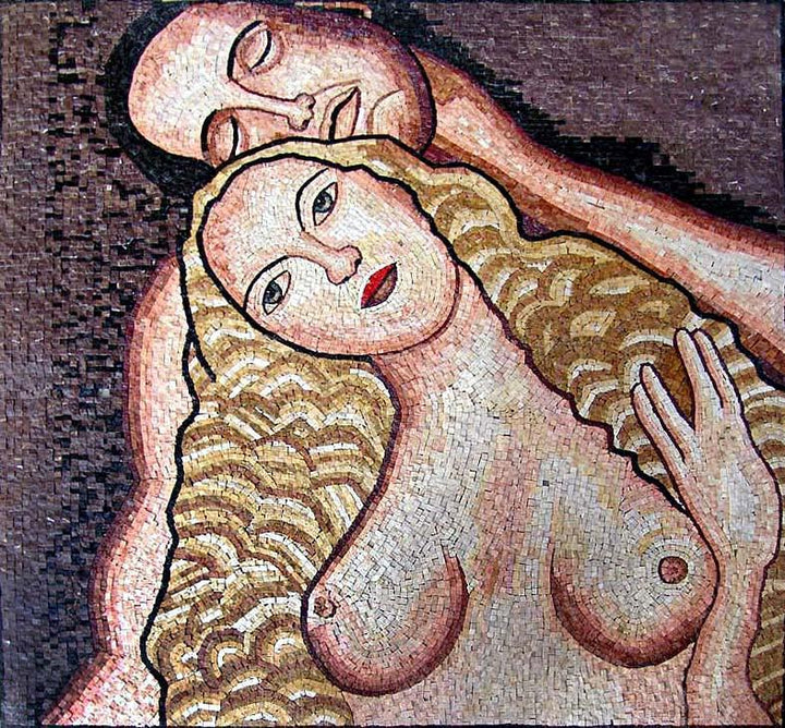 "Gustav Klimt Eve"" - Mosaic Art Reproduction"""