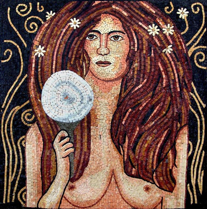 Nuda Veritas by Gustav Klimt Reproduction Marble Mosaic