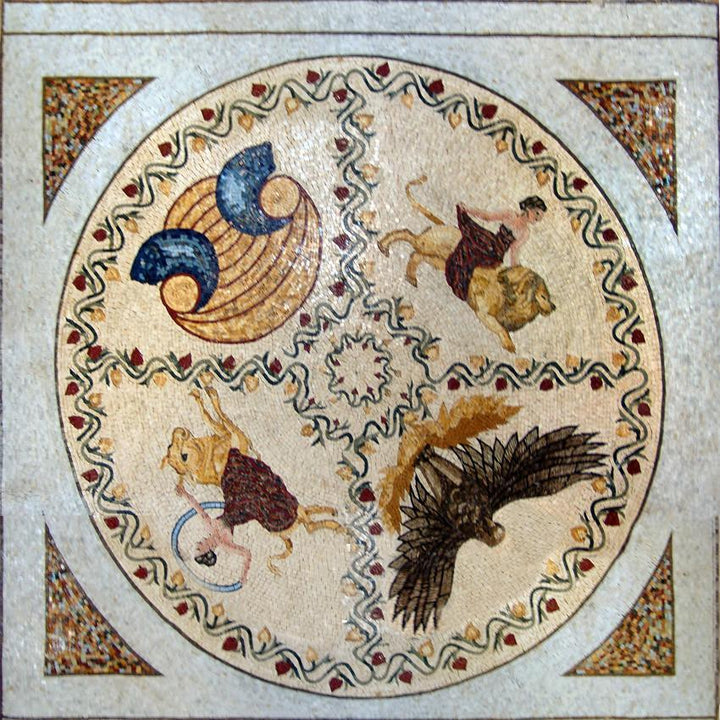 Mythical Stone Mosaic Wheel