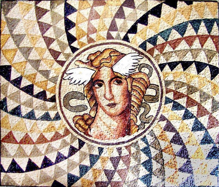 Greek Goddess Illusion Mosaic Mural