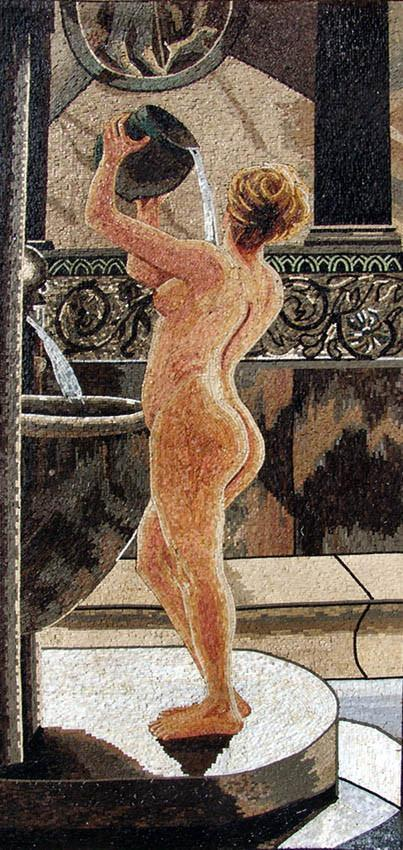 "John Reinhard Bathing"" - Mosaic Reproduction"""
