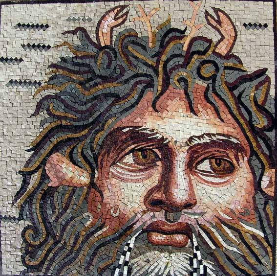 Oceanos God Mosaic Designs Titan God