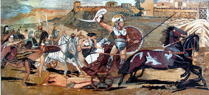 Greek Reproduction Of Trojan War Mosaic