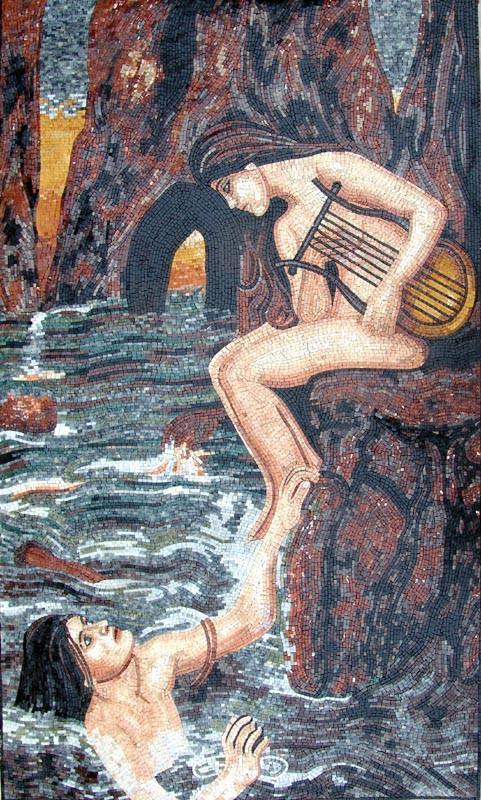 John Waterhouse The Sirens Mosaic Artwork