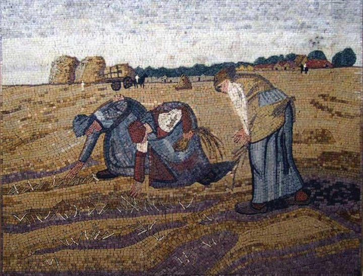 Harvest Scene Outdoor Decorative Mosaic