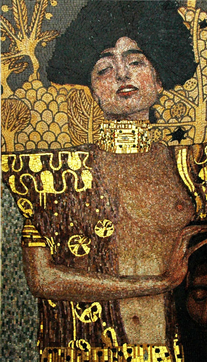"Gustav Klimt Judith"" - Mosaic Reproduction"""